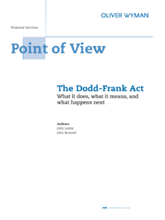 The Dodd-Frank Act: What it does, what it means, and what happens next - archive