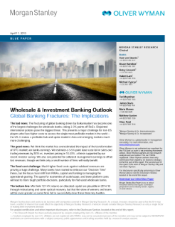Oliver Wyman and Morgan Stanley 2013 Wholesale and Investment