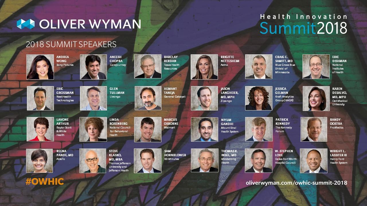 Oliver Wyman Health Innovation Summit 2018