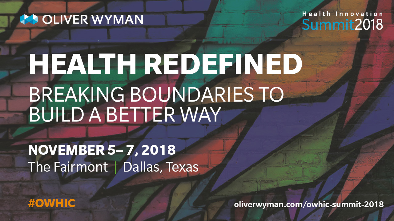 Oliver Wyman Health Innovation Summit 2018 on