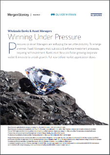 Wholesale Banks And Asset Managers – Winning Under Pressure